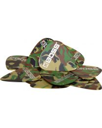 Boss 12-pack plectrums medium Camo