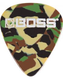Boss 12-pack plectra thin Camo