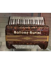 Accordeon Ballone Burini Model 45 bruin