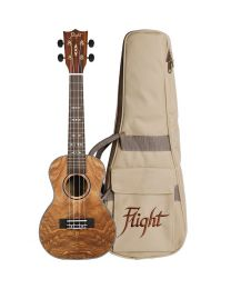 Flight DUC410 Quilted Ash Concert Ukulele