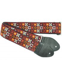 Souldier Woodstock Red Guitarstrap (MUSSL0080) - Huigens Music