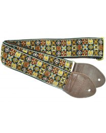 Souldier Woodstock Gold Guitarstrap (MUSSL0079) - Huigens Music