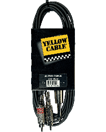 Yellow Cable K02 3meterkabel 2RCA/jack (ABMECOK02) - Huigens Music
