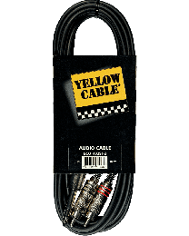 Yellow Cable K02ST 3meterkabel 2RCA/jack (ABMECOK02ST) - Huigens Music