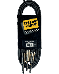 Yellow Cable K05 3meterkabel 2jack/jack (ABMECOK05) - Huigens Music