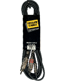 Yellow Cable K06M 3meterkabel jack/2RCA (ABMECOK06M) - Huigens Music
