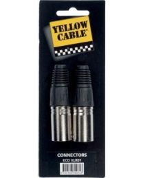 Yellow Cable XLR01 connector XLR man (ABMECOXLR01) - Huigens Music
