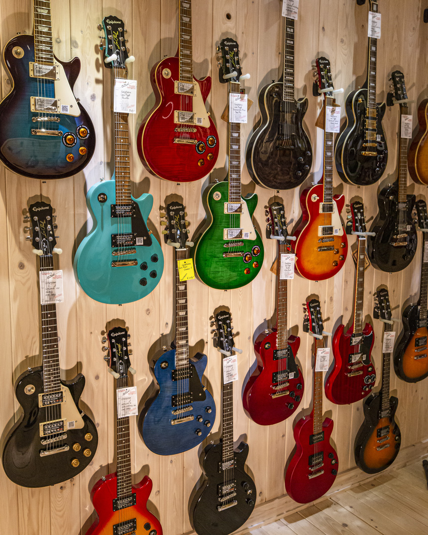 Huigens Music Epiphone Wall