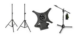 Microfoonstatieven en statieven voor licht en geluid bij Huigens