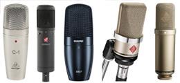 Studio microfoons bij Huigens